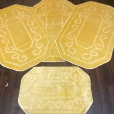 ROMANY GYPSY WASHABLES SET OF TOURER SIZE-67X110CM MATS-RUGS LEMON SHAPED